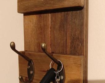 Handmade key hanger, engraved lettering.