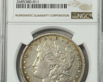 1895 O 1 Morgan Silver Dollar NGC VF25 Rare VAM 3A Bearded Eagle wow