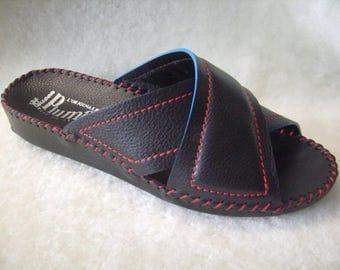 Men's handmade slippers in genuine leather