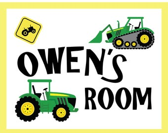 Personalized Tractor Name Sign