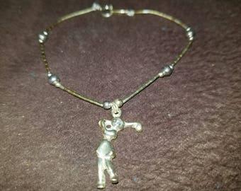Sterling 925 Jordan golfer charm bracelet