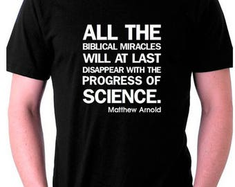 Atheist Tshirt quote by Matthew Arnold