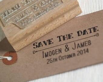 Save The Date Stamp, Personalised Custom Wedding Stamp