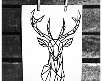Self adhesive stag decal sticker