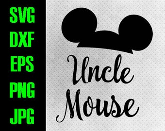 Disney Family - svg, dxf, eps, png, jpg cutting files - cricut, silhouette  iron on Matching Couple Vacation Uncle Mouse digital iron on