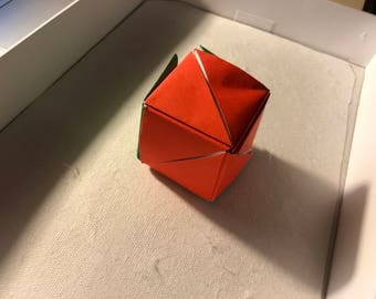 Origami transforming rose box