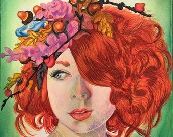autumn original drawing
