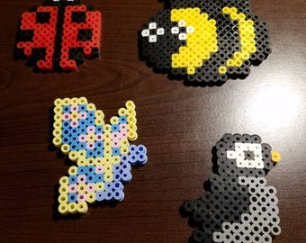 Mixed children's lot of perler bead art
