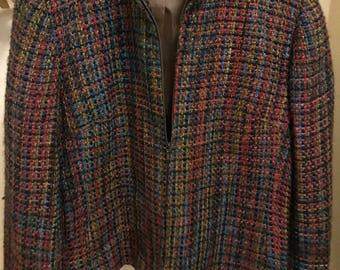 Vintage Coldwater Creek woven waist length jacket