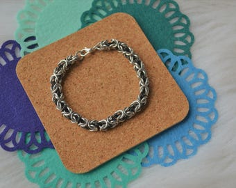Byzantine Weave | Chainmaille Bracelet