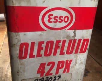 """Vintage Esso oil bottle """"Oleofluid 42PX"""""""