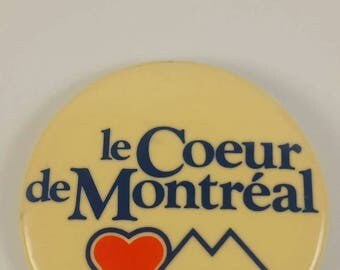 Vintage Heart of Montreal pinback button