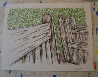 Benches drawing