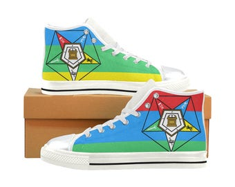 Order of the Eastern Star High Top Sneakers (shoe runs large, view size chart)
