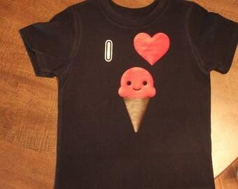 I heart ice-cream Toddler T-Shirt