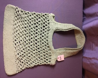 Crocheted Cotton Market/Shopping Bag