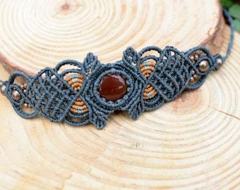 carnelian stone bracelet,macrame bracelet,gemstone bracelet,carnelian bracelet,macrame jewelry,carnelian jewelry,womans gift,carnelian stone
