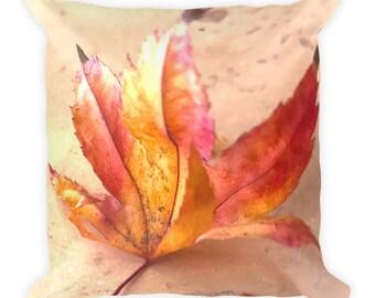 Pastel Autum Leaf - Square Pillow