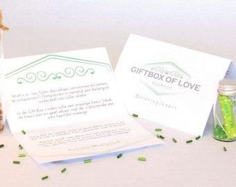 Custom love experience cards