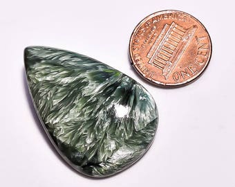Seraphinite Gemstone, Natural seraphinite pear shape top quality polished loose gemstone Gemscentre C4855