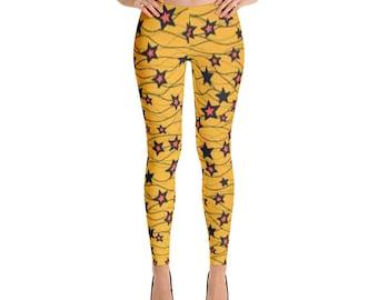 Star Yellow Leggings