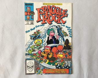 1988 Fraggle Rock Marvel Comic Book Vol. 2 No. 1 Jim Henson's Muppets