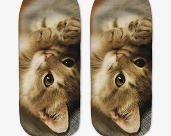 Super Cute Kitten Baby Cat Printed Kaus kaki Hosiery Meias Calcetiness Calzini Chaussette cute low ankle cut socks High Quality Material
