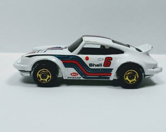 Vintage Hot Wheels - P-911 PORSCHE CARRERA - White - turbo 6 - 1980 - Hong Kong - Diecast Toy Car