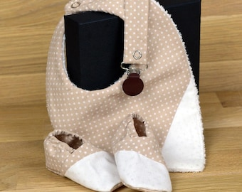 Beige polka dots set 0-3 months