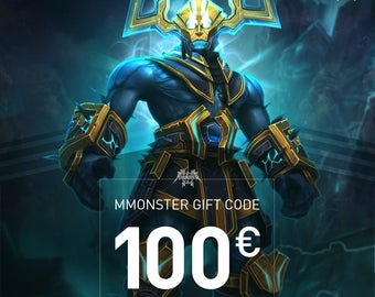 """Voucher to print for Mmonster """"Happy Birthday"""" Gift Card Code for your best friend - Value 100 Euro"""
