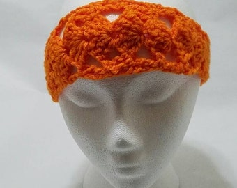 Orange Handmade Headband