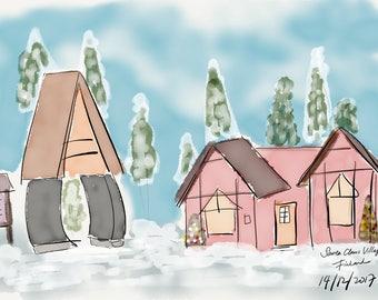 Santa Claus Village, Rovaniemi, Finland.