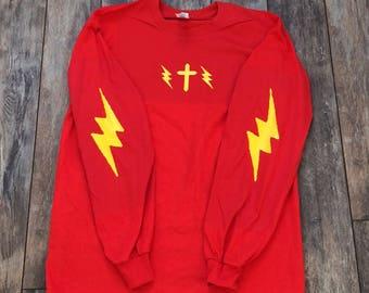 Lightning bolts W/ cross T-Shirt