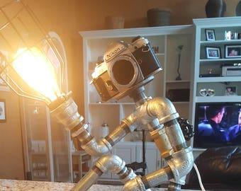 Unique Industrial lamp (Robot/Steampunk)