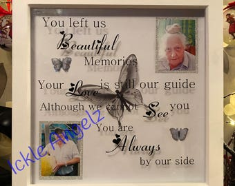 Personalised in memory of frame, loved ones, gift for her, handmade gift, personal touch, loss frame, butterfly in memory
