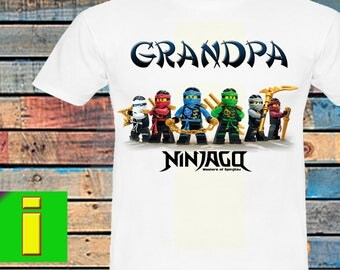 Grandpa,Ninjago Iron On Transfer, Ninjago Birthday Shirt Iron On Transfer,Ninjago Birthday Party Shirt ,Instant Dowload, Digital File Only
