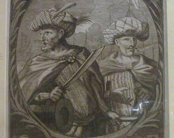 Grabado Al Cobre-1681. Horusce and Hareaden Barrosa.