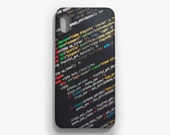 Code iPhone case, iPhone X, iPhone 8/8 Plus, iPhone 7/7 Plus, iPhone 6 6S, iPhone 6 Plus 6S Plus, Samsung Galaxy S8/S8 Plus case