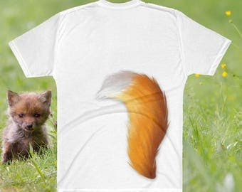 Furry tail shirt - Men's furry shirt- furry cosplay - fox cosplay shirt - furry clothes