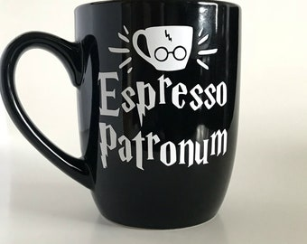 Espresso Patronum Mug, Harry Potter Mug, Coffee Mugs, Custom Coffee Mug, Funny Coffee Mugs, Cool Coffee Mugs, Unique Coffee Mugs, Coffee Mug