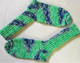 Handmade knitted socks wool socks knitted socks handmade hand knit socks wool 6 fold/Threads hand dyed gr 37/38