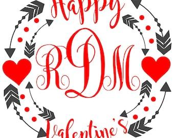 Valentine svg, valentines day svg, monogram svg, love svg, heart svg, svg valentine, svg valentines day, svg monogram, svg love, svg heart,