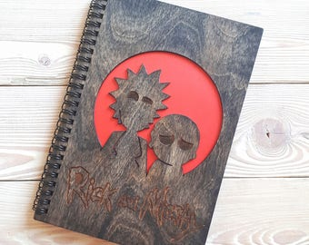 Rick and Morty notebook, DC Comics notebook, Marvel heroes, Marvel Comics Wood notebook, DC Marvel Sketchbook