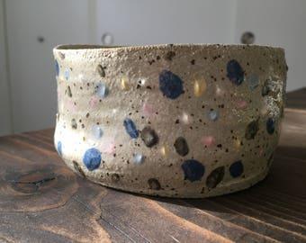 Unique handmade pottery bowl