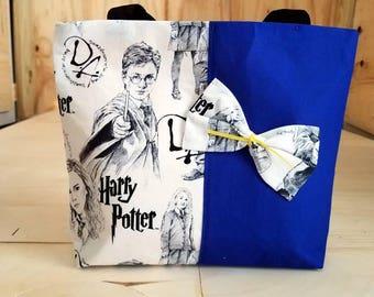 Small Blue Black Dumbledore Army Tote Bag