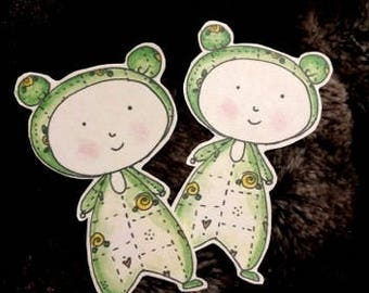 Rose Onesie Babies Stickers Card Toppers Scrapbook Embellishment Home Decoration