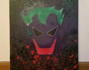 Joker Spary Paint Canvas
