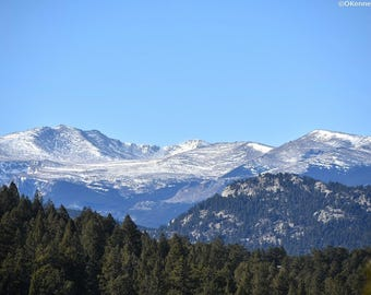 Winter rocky mountain views in Evergreen Colorado