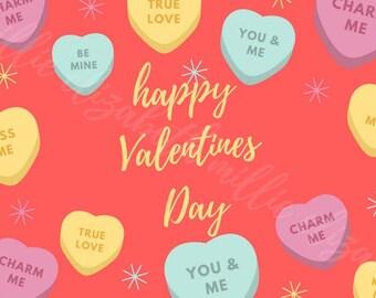 cute valentines day card print