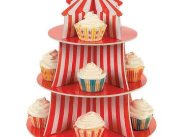 Carnival party/ circus party/ carnival birthday/ carnival cupcake stand/ circus cupcake stand/ carnival centerpiece/ circus birthday